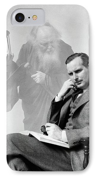 1930s Man In Suit Seated With Book IPhone Case