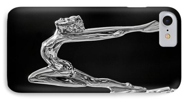 1934 Buick Goddess Hood Ornament -174bw IPhone Case