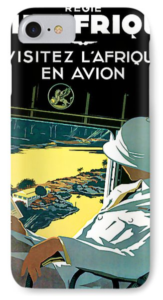 1936 Air Afrique Vintage Art IPhone Case