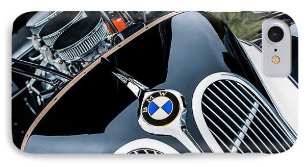 1938 Bmw 327-8 Cabriolet Grille Emblem - Engine IPhone Case