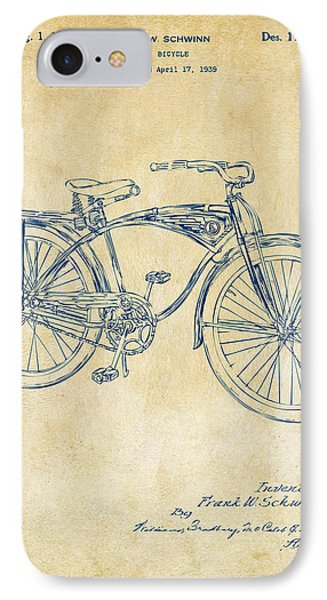 Bicycle iPhone 8 Case - 1939 Schwinn Bicycle Patent Artwork Vintage by Nikki Marie Smith