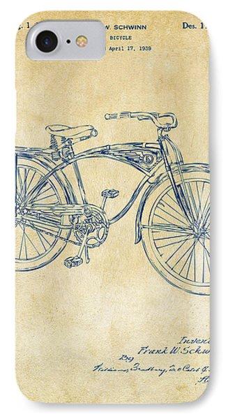 1939 Schwinn Bicycle Patent Artwork Vintage IPhone Case