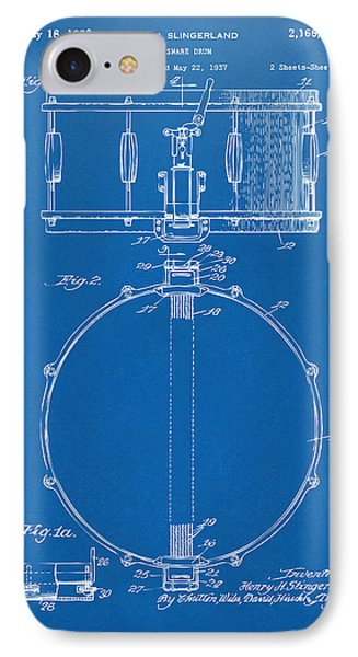 Drum iPhone 8 Case - 1939 Snare Drum Patent Blueprint by Nikki Marie Smith
