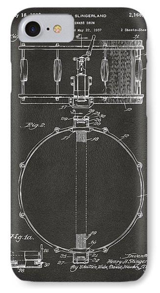 1939 Snare Drum Patent Gray IPhone Case