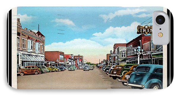 1940s Downtown Terrell Texas IPhone Case