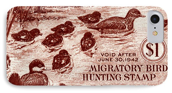1941 American Bird Hunting Stamp IPhone Case