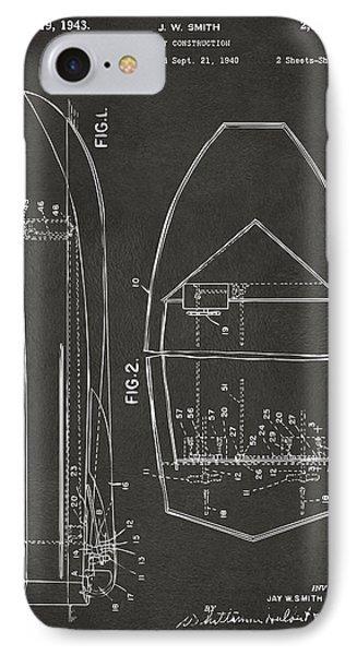 1943 Chris Craft Boat Patent Artwork - Gray IPhone Case