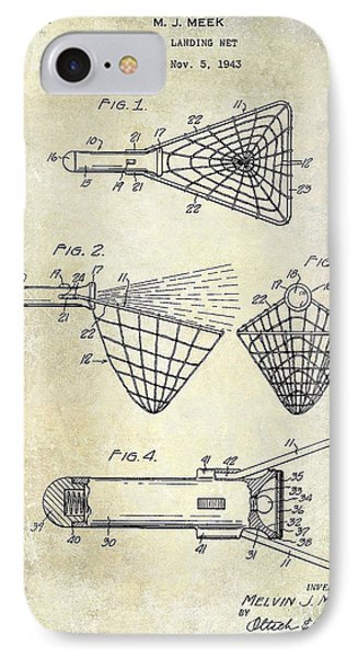 1947 Fishing Net Patent  IPhone Case
