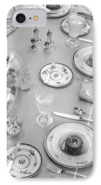 1950s Table Setting Centerpiece Dinner IPhone Case