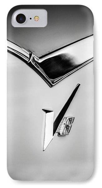 1955 Dodge Royal Lancer V8 Emblem -0639bw IPhone Case