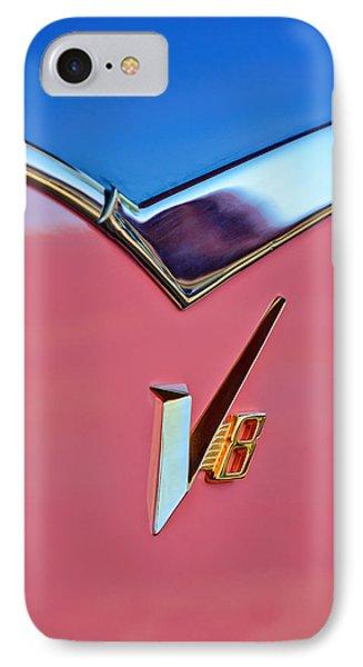 1955 Dodge Royal Lancer V8 Emblem -0639c IPhone Case