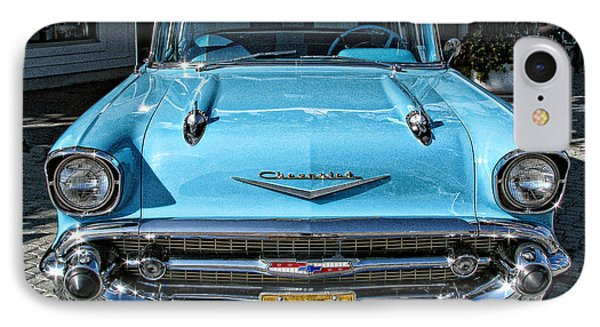 1957 Chevy Bel Air In Turquoise IPhone Case