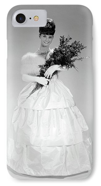 1960s Young Woman In Evening Dress IPhone Case