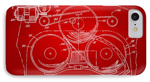1963 Automatic Phonograph Jukebox Patent Artwork Red IPhone Case