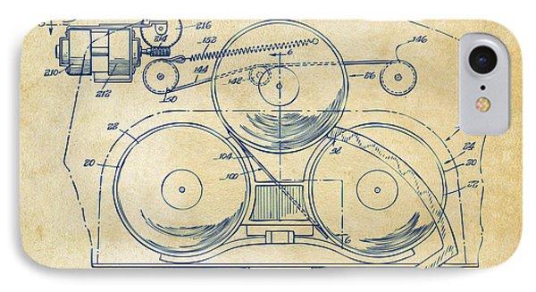 1963 Automatic Phonograph Jukebox Patent Artwork Vintage IPhone Case