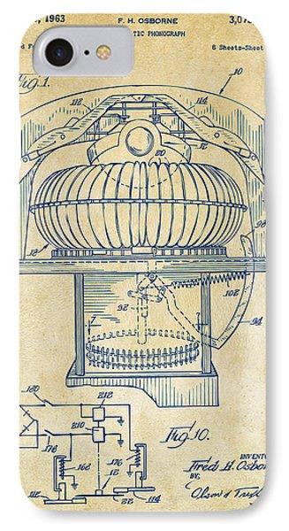 1963 Jukebox Patent Artwork - Vintage IPhone Case