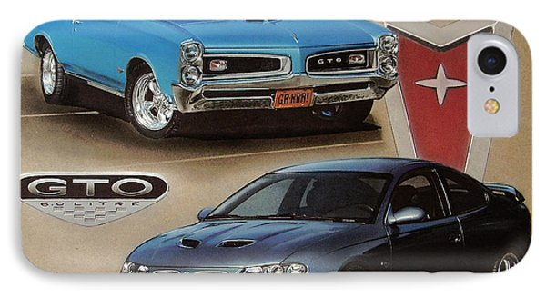 1966 And 2006 Pontiac Gto's IPhone Case