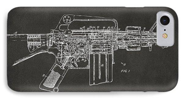 1966 M-16 Gun Patent Gray IPhone Case