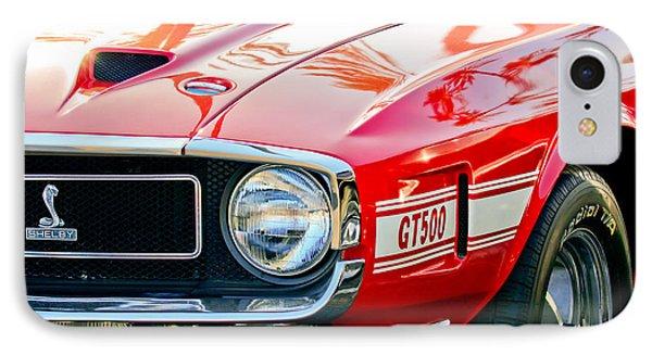 1969 Shelby Cobra Gt500 Front End - Grille Emblem IPhone Case