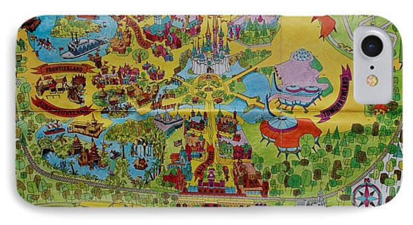 Magician iPhone 8 Case - 1971 Original Map Of The Magic Kingdom by Rob Hans