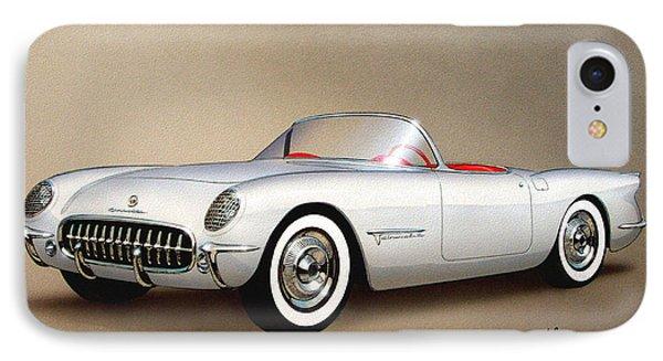 1953 Corvette Classic Vintage Sports Car Automotive Art IPhone Case