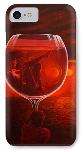 A Toast To Love And Wine IPhone Case