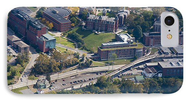 aerials of WVVU campus IPhone Case