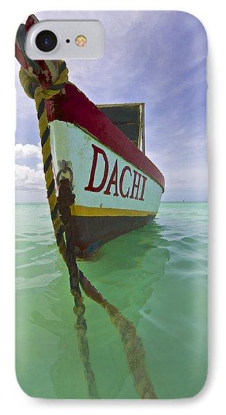 Anchored Colorful Fishing Boat Of Aruba II IPhone Case