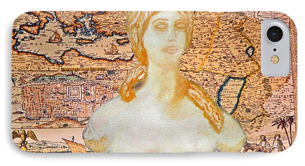 Ancient Middle East Map And Aphrodite IPhone Case