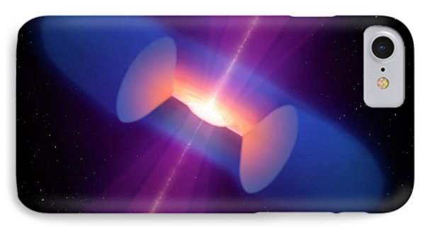 Artwork Of An Active Galactic Nucleus IPhone Case