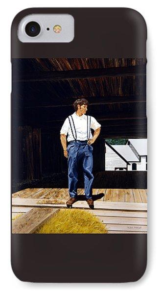 Boy In The Barn IPhone Case