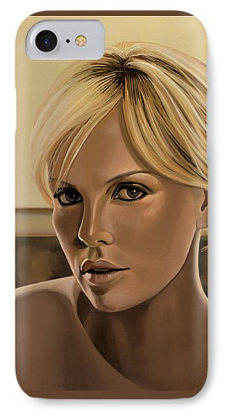 Africa iPhone 8 Case - Charlize Theron Painting by Paul Meijering