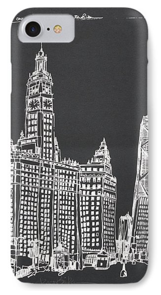 Chicago Wrigley And Hancock Buildings IPhone Case