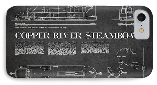 Copper River Steamboats Blueprint IPhone Case