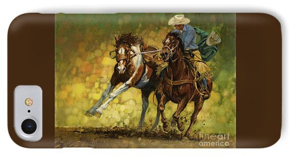 Horse iPhone 8 Case - Rodeo Pickup by Don  Langeneckert