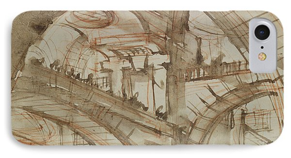 Dungeon iPhone 8 Case - Drawing Of An Imaginary Prison by Giovanni Battista Piranesi