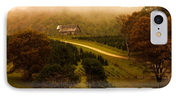 Foggy Autumn Country Road IPhone Case