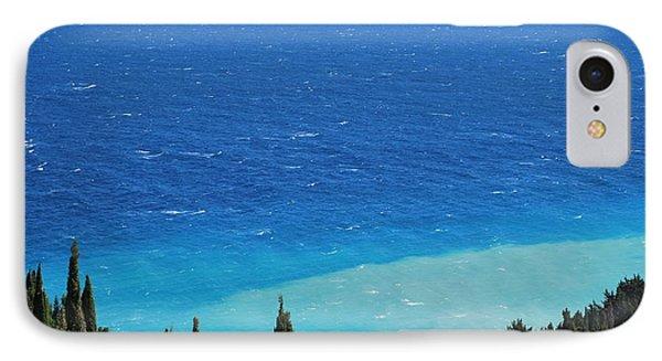 green and blue Erikousa IPhone Case