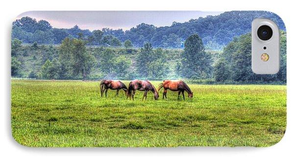 Horses In A Field IPhone Case