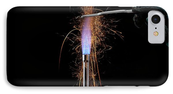 Iron Filings In A Gas Flame IPhone Case