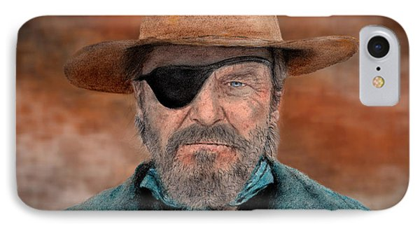 Jeff Bridges As U.s. Marshal Rooster Cogburn In True Grit  IPhone Case