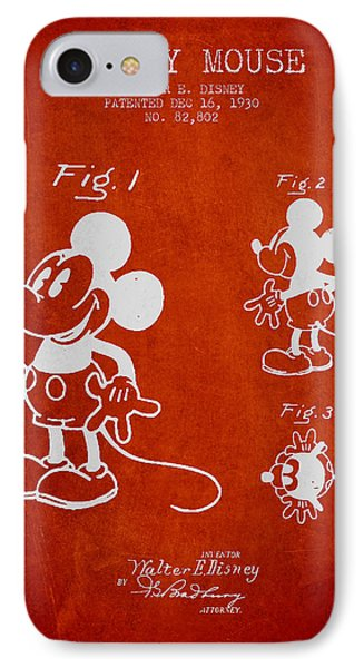 Mickey Mouse Patent Drawing From 1930 IPhone Case