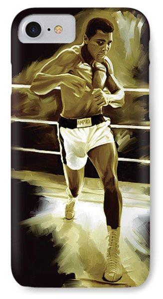 Muhammad Ali Boxing Artwork IPhone Case