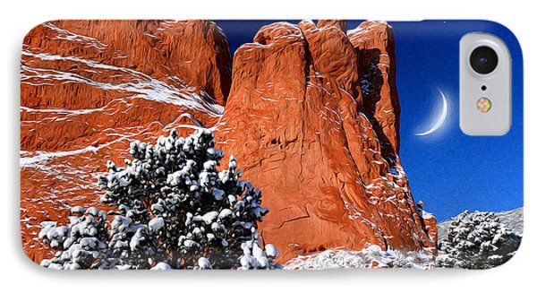Orange And Blue Beauty At Garden Of The Gods IPhone Case
