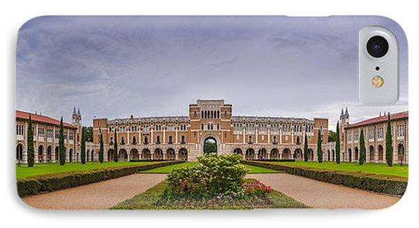 Panorama Of Rice University Academic Quad - Houston Texas IPhone Case