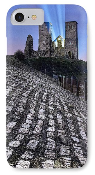 Reculver Towers At Night. IPhone Case