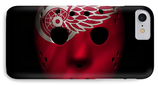 Red Wings Jersey Mask IPhone Case