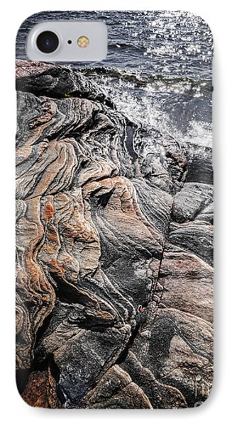 Rock Formations At Georgian Bay IPhone Case