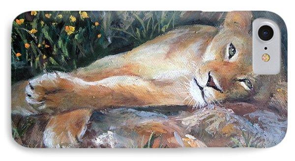 Sleep Lion IPhone Case
