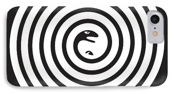 2 Snakes Illusion IPhone Case